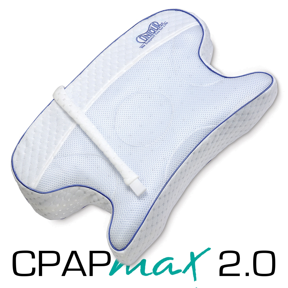 CPAPmax 2.0 CPAP Pillow with Removable Fitted Cover