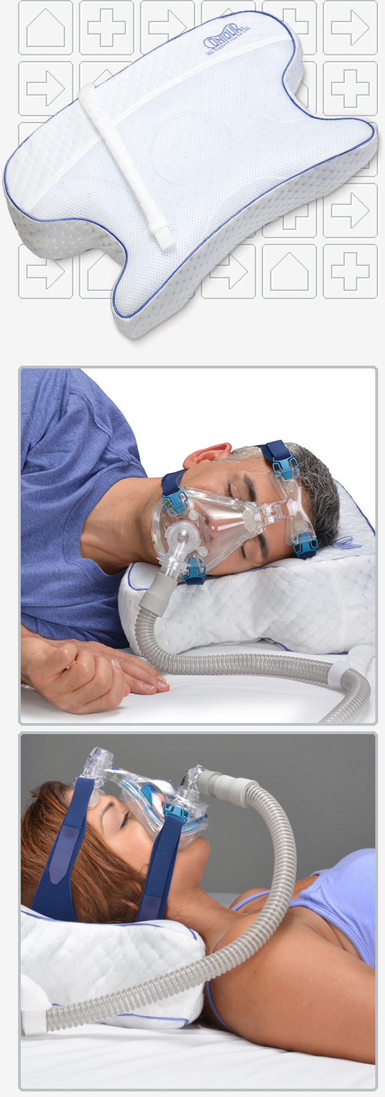 CPAPmax CPAP Pillow with Removable Fitted Cover