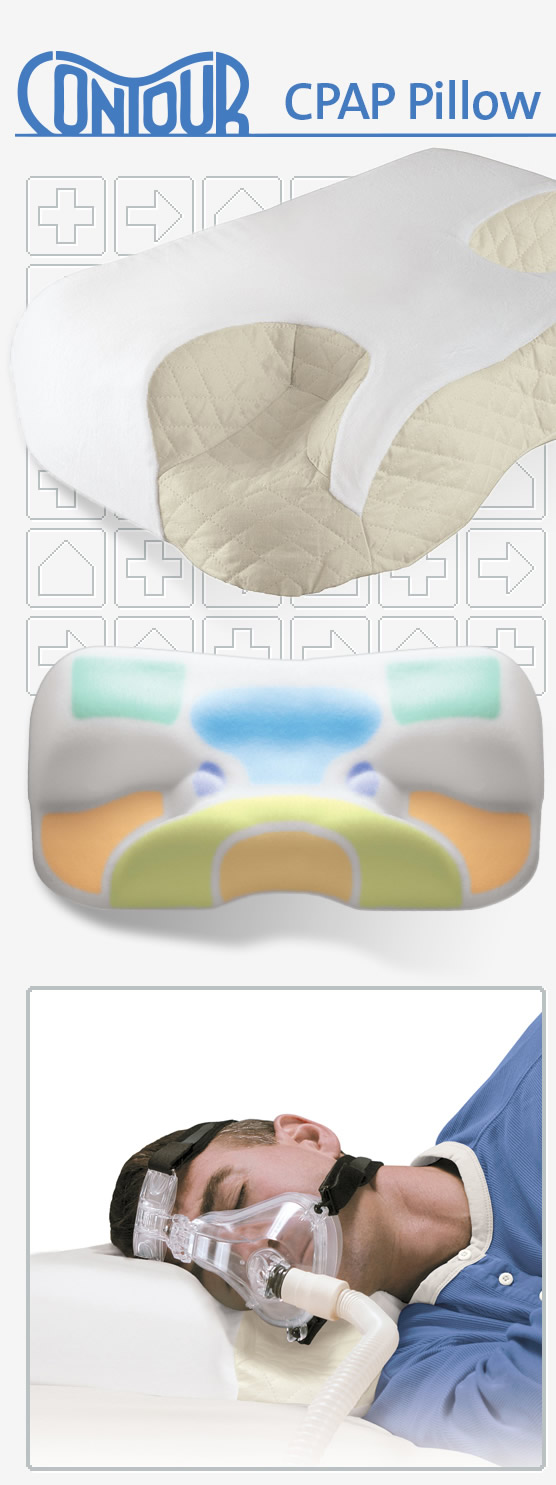 Contour CPAP Pillow with Removable Fitted Cover