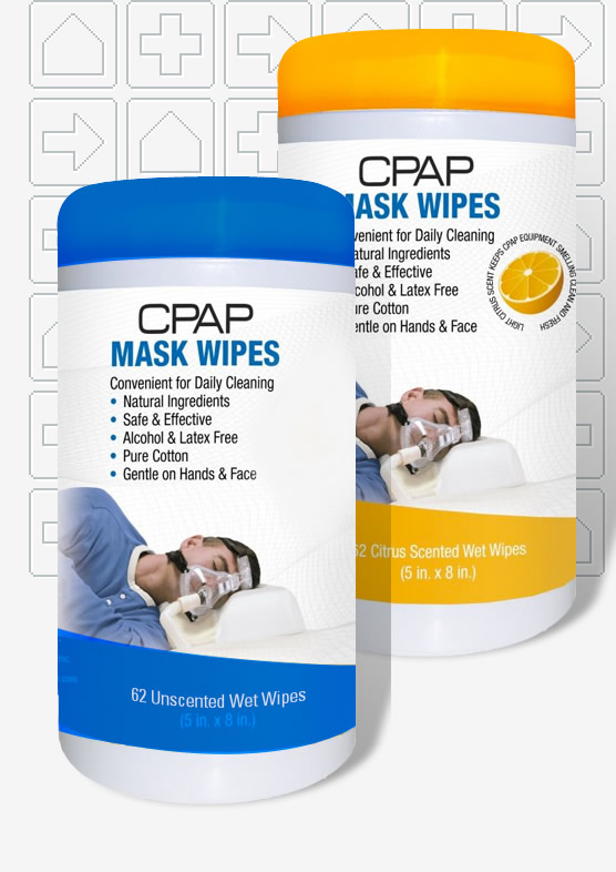 Contour CPAP Mask & Tube Cleaning Wipes - 62 Pack