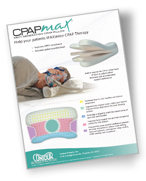 cpapmax cpap pillow brochure