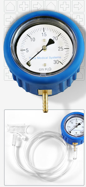 Gauge Manometer for All CPAP & BiPAP Machines - Pressures from 0-30CM H2O