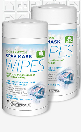 Professional CPAP Mask & Tube Cleaning Wipes - Unscented 62 Pack