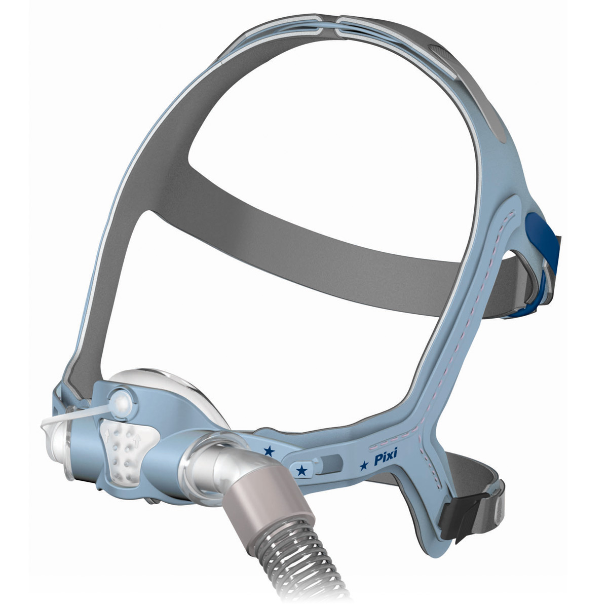 Pixi Pediatric Nasal Cpap Mask Pack With Headgear Ages 2