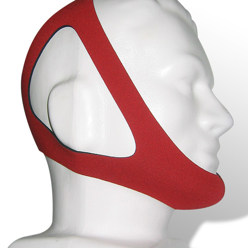 PureSom Ruby ADJUSTABLE Chinstrap for CPAP Therapy