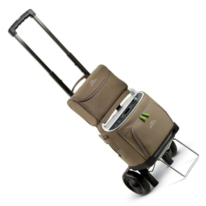 Mobile Travel Cart with Telescoping Handle for SimplyGo & EverGo Portable Oxygen Concentrators