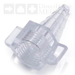 Nipple Nut-and-Stem 'Christmas Tree' Adapter for Oxygen Tubing & Concentrators - Clear