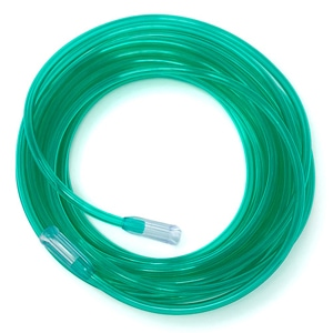 Salter GREEN Crush Resistant 3-Channel Oxygen Supply Tubing - 35 Foot