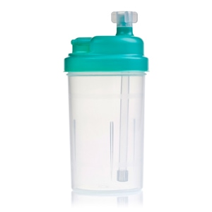 Hudson Green Lid Bubble Humidifier Bottle (with 6 PSI Safety Valve) for Various Oxygen Concentrators