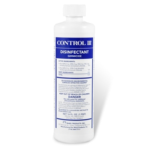 Control III CPAP Mask & Tubing Disinfectant Cleaner - 16oz Concentrate