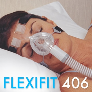 FlexiFit 406 Petite Nasal CPAP Mask Pack with Headgear