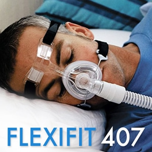 FlexiFit 407 Nasal CPAP Mask Pack Kit with Headgear