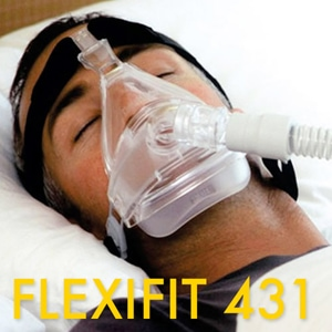 FlexiFit 431 Full Face CPAP Mask FitPack with Headgear