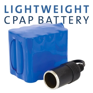 Lightweight Battery Pack for CPAP & BiPAP Machines (Requires 12V DC Cable)