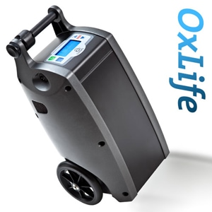 OxLife Independence Portable Oxygen Concentrator Bundle (Continuous Flow & Pulse Dose)
