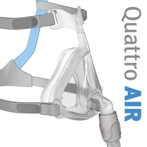Quattro™ Air Full Face CPAP Mask Pack with Headgear