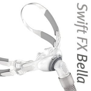 Swift™ FX Bella Gray Nasal Pillows CPAP Mask FitPack with Headgear