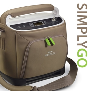 SimplyGo Portable Oxygen Concentrator Bundle (Continuous Flow & Pulse Dose)