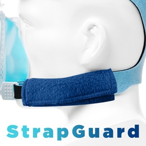 StrapGuard Soft Fleece CPAP Mask Headgear Strap Covers - 1 Pair