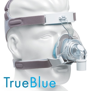 TrueBlue Gel Nasal CPAP Mask Pack with Headgear
