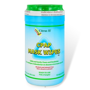 Citrus II CPAP Mask & Tube Cleaning Wipes - 62 Pack