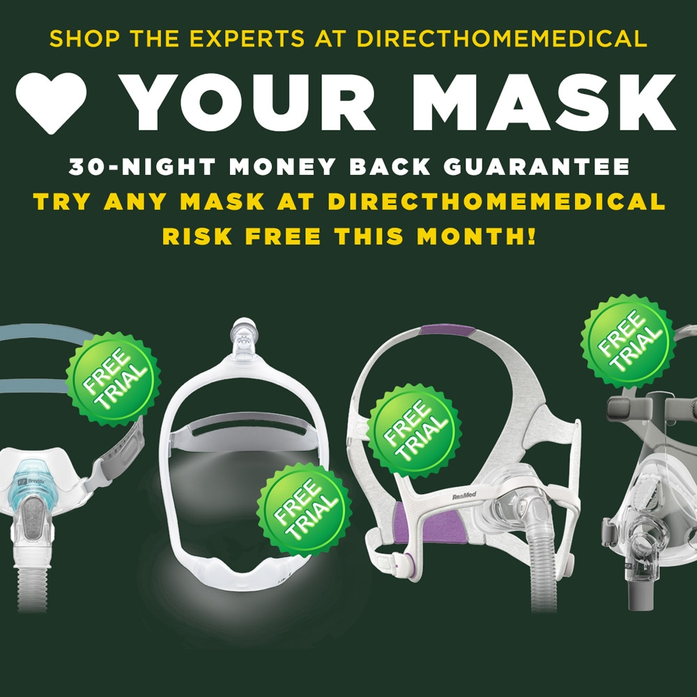 Find The Perfect CPAP Mask: Lots of Great Masks with a Free 30-Day Satisfaction Guarantee!