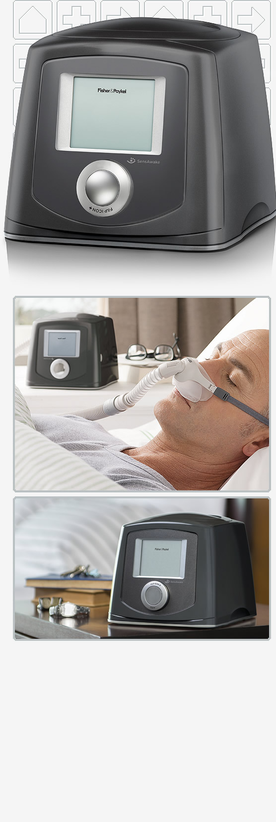 F&P ICON+ AUTO Humidified Auto-CPAP Machine Package with ThermoSmart Heated Tubing