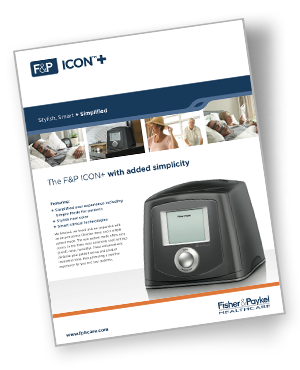 f&p icon+ cpap specifications