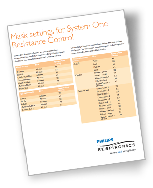 pr systemone remstar cpap resistance control settings