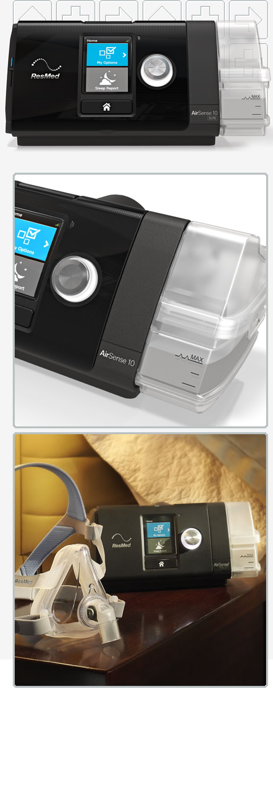 AirSense™ 10 Elite CPAP Machine Package with HumidAir™ Heated Humidifier