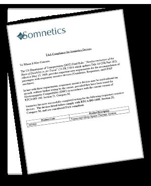 somnetics faa compliance letter