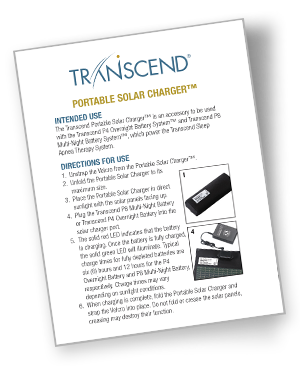 transcend cpap solar charger