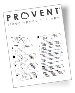 provent instructions for use